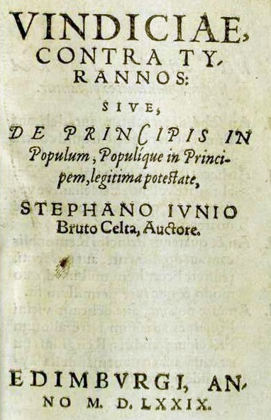 Vindiciae Contra Tyrannos 1 La Question Du Latin